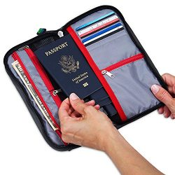 MyTribeTravel Travel Wallet Organizer – Up to 6 Passports – NO Cumbersome Passport Slots