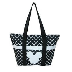 Disney Mickey and Minnie Mouse Icon Polka Dot Travel Beach Tote (Mickey)