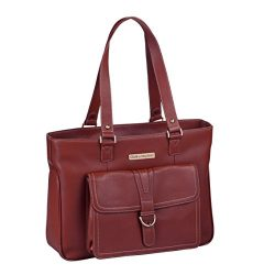Clark & Mayfield Women's Stafford Pro Leather Laptop Tote (Fits laptops up to 15.6R ...
