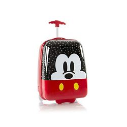 Disney Mickey Mouse Kids Carry On Rolling Luggage, Hard Shell Travel Suitcase for Boys – 1 ...