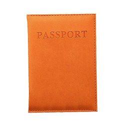 New Holder Travel Cover Case – Duseedik Leather RFID Blocking Wallet Travel Passport (Orange)