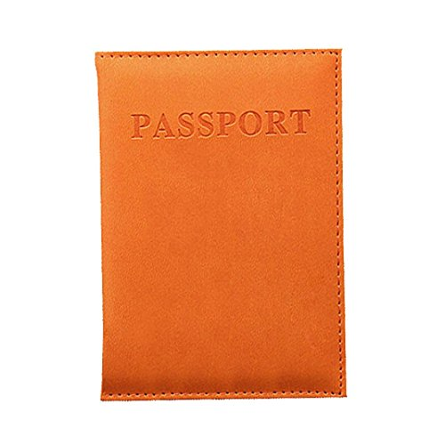 New Holder Travel Cover Case – Duseedik Leather RFID Blocking Wallet Travel Passport (Orange)