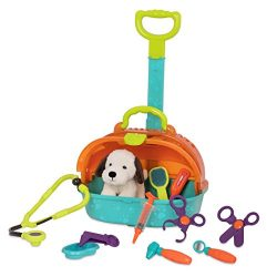 Battat – Pup & Go Vet Carrier – Rolling Pet Carrier with Plush Dog for Children  ...