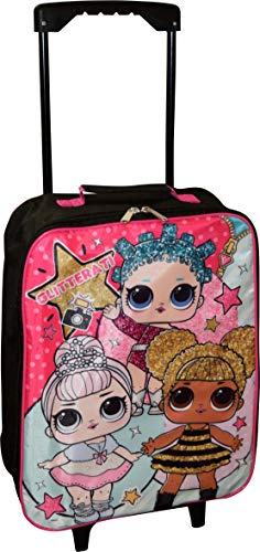 L.O.L Surprise! Girl's 15″ Collapsible Wheeled Pilot Case – Rolling Luggage