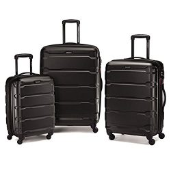 Samsonite Omni Hardside Luggage Nested Spinner Set (20″/24″/28″) Black (68311- ...