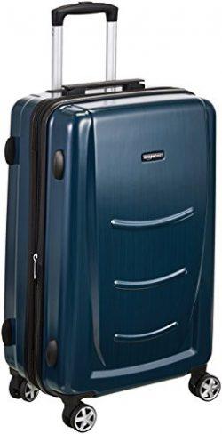 AmazonBasics Hardshell Spinner Luggage – 24-Inch, Navy Blue