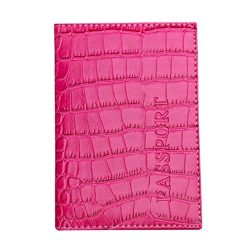 Kimloog Clearance!PU Leather Passport Cover Holder RFID Blocking Men Women Travel Wallets (Hot Pink)