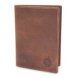 Leather Passport Holder Travel Wallet – RFID Blocking Genuine Leather Travel Wallet for Me ...