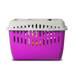 Marchioro Binny Basic Top Load Pet Carrier, Ideal for Cats, Small Puppies, Rabbits, and Birds (P ...