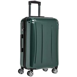 AmazonBasics Oxford Luggage Expandable Suitcase with TSA Lock Spinner, 28-Inch, Green