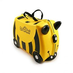 Trunki Original Kids Ride-On Suitcase and Carry-On Luggage – Bernard (Yellow)
