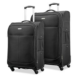 Samsonite Advance Xlt Lightweight 2 Piece Softside Set (21″/25″), Black, Exclusive t ...