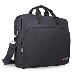 REYLEO 15.6 Inch Laptop Bag Travel Briefcase with Luggage Strap Water Resistant Shoulder Bag Bus ...