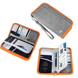 Family Passport Holder – Vemingo RFID-Blocking Travel Wallet Ticket Holder Document Organi ...