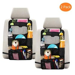INFANZIA Car Seat Back Organizer for Kids Travel Accessories Back Seat Protector with Multi Pock ...