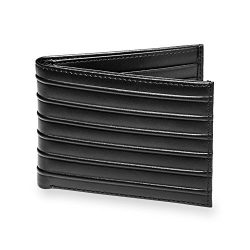 Levenger Bond Street Modern and Sleek Leather Wallet – Passport Wallet, Black (AL15130 BK)
