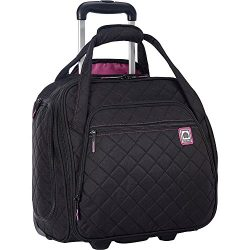 Delsey Quilted Rolling Underseat Bag For Carry-On Fits Overhead & Under Airline Seat – ...