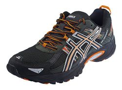 ASICS Men's Gel Venture 5 Running Shoe (11.5 D(M) US, Black/Shocking Orange/Duffel Bag)