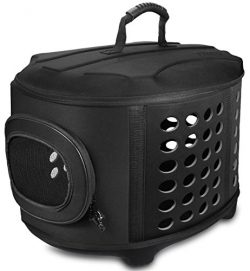 FRiEQ 23-Inch Large Hard Cover Pet Carrier – Pet Travel Kennel for Cats, Small Dogs &  ...