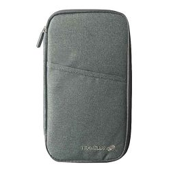 Koala Superstore Travel Passport Wallet & Document Organizer Zipper Case For Men/Women &#821 ...