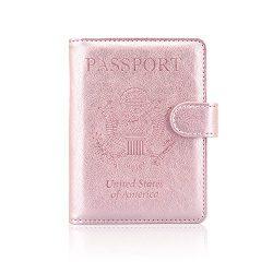 Passport Holder Case, ACdream Protective Premium Leather RFID Blocking Wallet Case for Passport, ...
