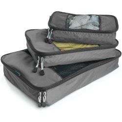 TravelWise Packing Cubes – 3 Piece Set (Silver)