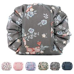 Portable Lazy Drawstring Makeup Bag Travel Cosmetic Pouch Toiletry Organizer Waterproof Large fo ...