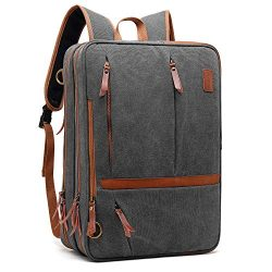 CoolBELL Convertible Messenger Bag Backpack Shoulder Bag Laptop Case Handbag Business Briefcase  ...