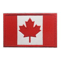 Canadian Flag Maple Leaf Patch Canada Hook Loop Embroider Sew On Motorcycle Biker Tactical Tags  ...