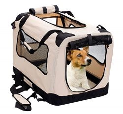 2PET Foldable Dog Crate – Soft, Easy to Fold & Carry Dog Crate for Indoor & Outdoo ...