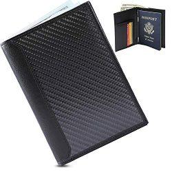 Luxury Leather Passport Holder and RFID Blocking Technology Wallet – Slim, Minimalist Slee ...