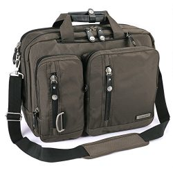 FreeBiz 18.4 Inches Multi-Function Laptop Briefcase Backpack with Handle and Shoulder Strap Fits ...