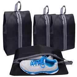 Alezywels Shoe Storage Organizer Bags Set, Waterproof Nylon Fabric with Sturdy Zipper for Travel ...