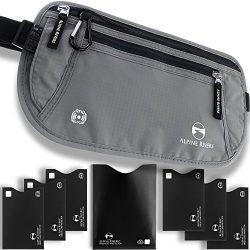 Money Belt – RFID Blocking Hidden Travel Wallet + 7 Bonus Sleeves