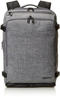 AmazonBasics Slim Carry On Travel Backpack, Grey – Weekender