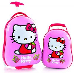 Heys America Hello Kitty Kids 2 Pc Luggage Set -18″ Carry On Luggage & 12″ Backpack