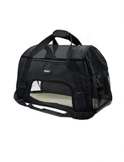 Bencmate Soft Sided Pet Carrier ,Airline Approved Pet Travel Bags for Cats and Dogs Collapsible ...