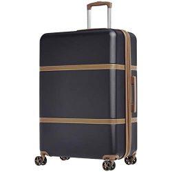 AmazonBasics Vienna Luggage Expandable Suitcase Spinner, 28-Inch, Black