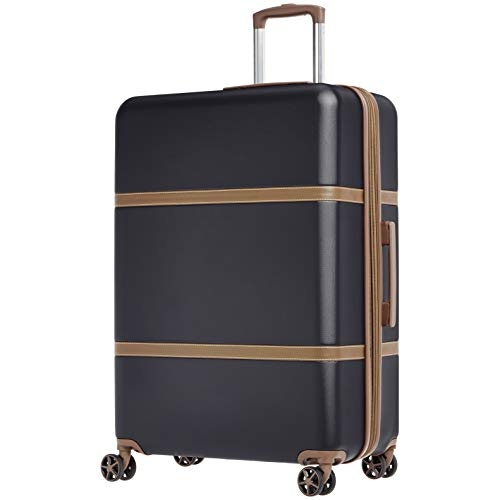 AmazonBasics Vienna Luggage Expandable Suitcase Spinner, 28-Inch, Black