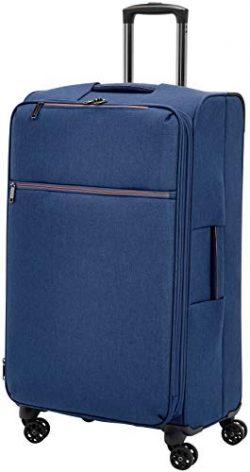 AmazonBasics Belltown Softside Luggage Spinner Suitcase Spinner – 29-Inch, Heather Blue