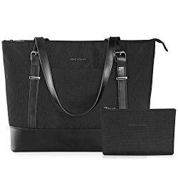 KROSER Laptop Tote Bag 15.6 Inch Large Shoulder Bag Lightweight Water-Repellent Nylon Computer T ...