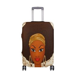 ALAZA Fashion African Women Travel Luggage Cover DIY Prints Protector Suitcase Baggage Fit 18-32 ...