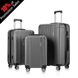 "Expandable Luggage Set, Spinner Suitcase, Including 20""(Carry-On), 24″, 28″ Size, Eq ..."