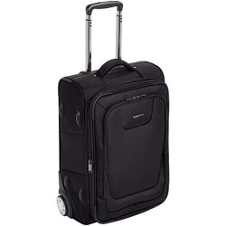 AmazonBasics Premium Upright Expandable Softside Suitcase with TSA Lock – 22 Inch, Black
