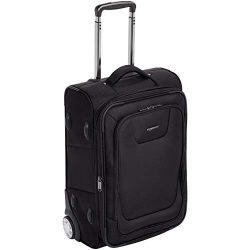 AmazonBasics Premium Upright Expandable Softside Suitcase with TSA Lock – 22 Inch, Black