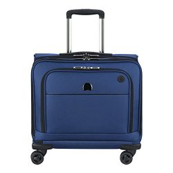 Delsey Luggage 4 Wheel Spinner Mobile Laptop Briefcase, Blue One Size