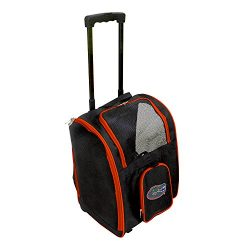 Denco NCAA Florida Gators Premium Wheeled Pet Carrier