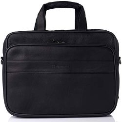 "Alpine Swiss Messenger Bag Colombian Leather 15.6"" Laptop Briefcase Portfolio"
