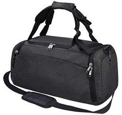 Gym Duffle Bag Waterproof Travel Weekender Bag for Men Women Duffel Bag Backpack with Shoes Comp ...