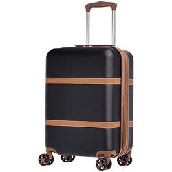 AmazonBasics Vienna Luggage Expandable Suitcase Spinner, 20-Inch Carry-On, Black